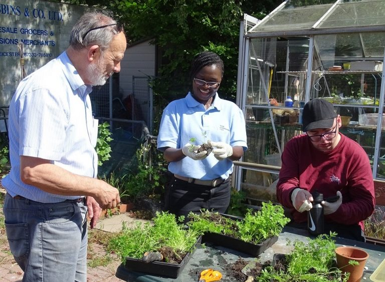 Gardening at headway leicester